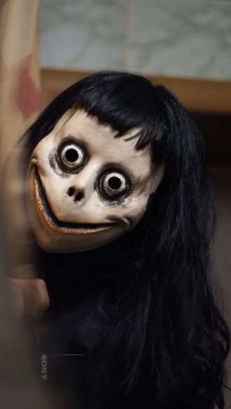 Маска Момо Momo mask with WIG(Hair)