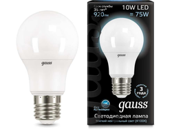 Gauss LED A60 10w 840 E27