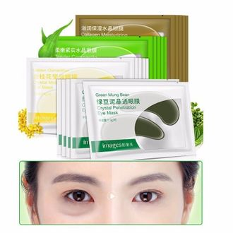 Патчи под глаза с бобами мунг Bioaqua Images Green Mung Bean Crystal Penetration Eye Mask Артикул: 11008400737