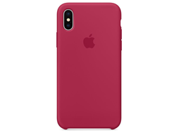 Чехол-накладка Apple Silicone Case iPhone Rose Red