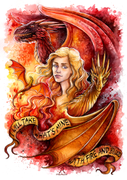 Fire And Blood Art by TrollGirl