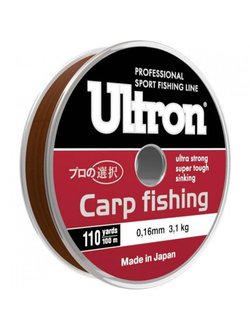 "Леска  GL ""Ultron Carp Fishing""  100 м  0.30 мм, 8.6 кг  (Carp Fishing 0.30)"