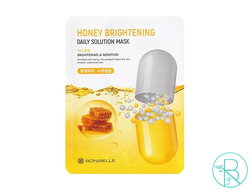 Маска тканевая BoniBelle Honey Brightening Daily Solution Mask  осветляющая