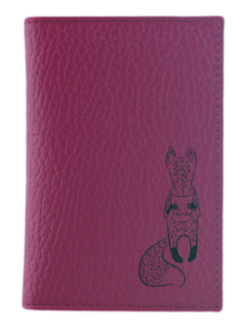 Кредитница QOPER Credit card holder fox pink