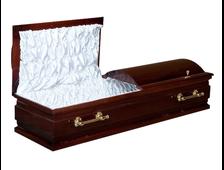 Гроб деревянный лакированный Вашингтон новый