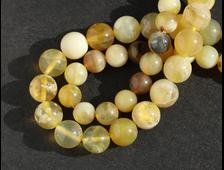 Бусина Опал желтый, шар 8 мм (1 шт) №16051