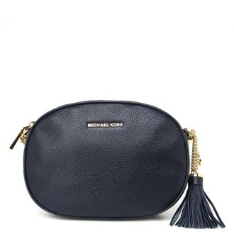 Клатч Michael Kors Ginny Medium Leather Crossbody (Темно-синий)