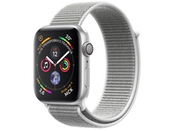 Apple Watch Series 4 44mm Aluminum Case with Sport Loop (Silver/Seashell)