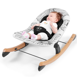 Шезлонг Kinderkraft Finio Black/White