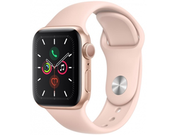 Apple Watch Series 5 40mm Aluminum Case with Sport Band (Розовое Золото)