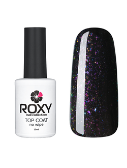 Топ без липкого слоя с шиммером - TOP COAT no wipe Т03 shine (10 ml)