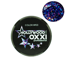 Глитерный гель OXXI Professional Hollywood №3, 5гр