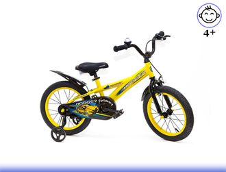 Велосипед HOGGER 16 Yellow Kiddy-bikes от 3 до 6 лет