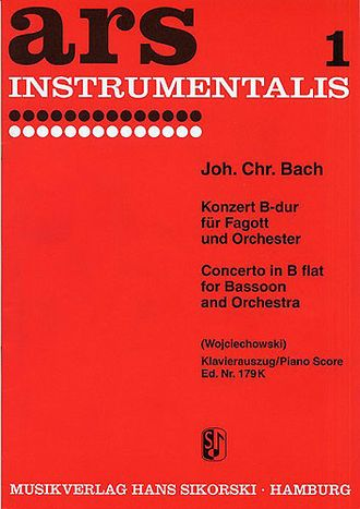 Bach Johann Christian: Concerto In B Flat For Bassoon And Orchestra