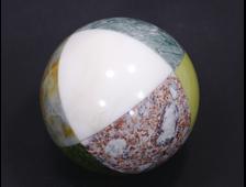 Шар комбинированный из разных камней, Урал (86 мм, 852 г) №14202
