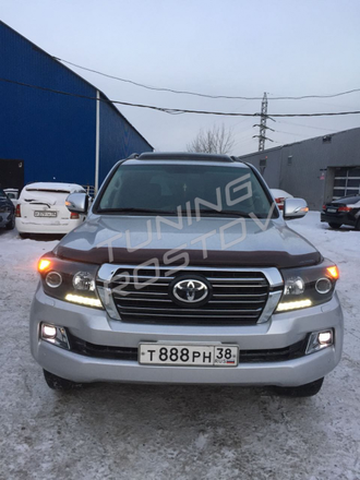 Бампер Toyota Land Cruiser 200 2007-2015 в стиле 2016+