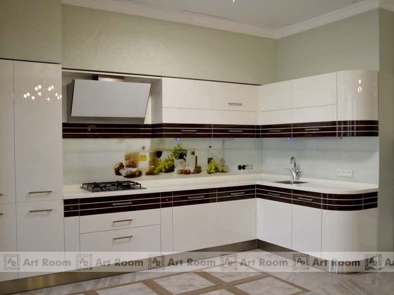 фото кухни эмаль со шпоном
