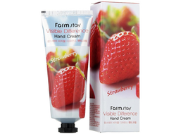FarmStay Крем для рук Visible Difference Hand Cream Strawberry (Клубника), 100мл