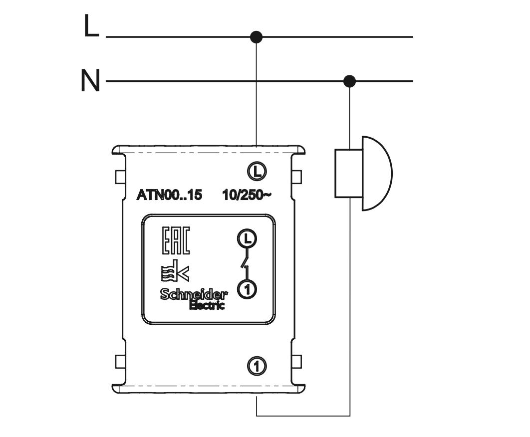 схема подключения нажимной кнопки Schneider Electric
