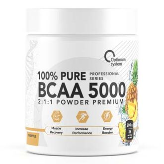 (OPTIMUM SYSTEM) BCAA 5000 POWDER - (200 ГР) - (малина)