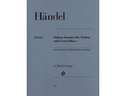 Handel 7 Sonatas for Violin and Basso Continuo
