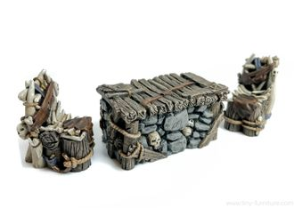 Trolls table and chairs (painted)