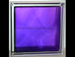 Стеклоблок Vitrablok окрашенный внутри волна аметист