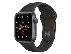 Apple Watch Series 5 40mm Space Gray Aluminium / Black Sport Band