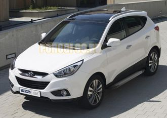 Пороги на Hyundai IX-35 (2010-2015) Start Black
