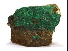 Малахит кристаллический, на породе (71*62*31, 155 г) №14453