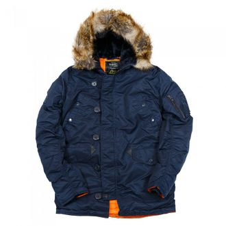 Куртка Аляска N3B HUSKY II Rep.Blue/ORANGE