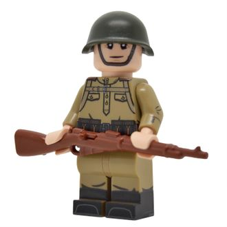 LEGO WW2 SOVIET INFANTRY WITH M43 GYMNASTYORKA (MOSIN)