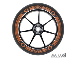 Колесо для самоката District Dual Width Core - Black/Orange