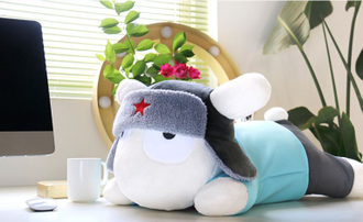 Мягкая игрушка-подушка Xiaomi  Soft Rabbit Pillow Blue 60см