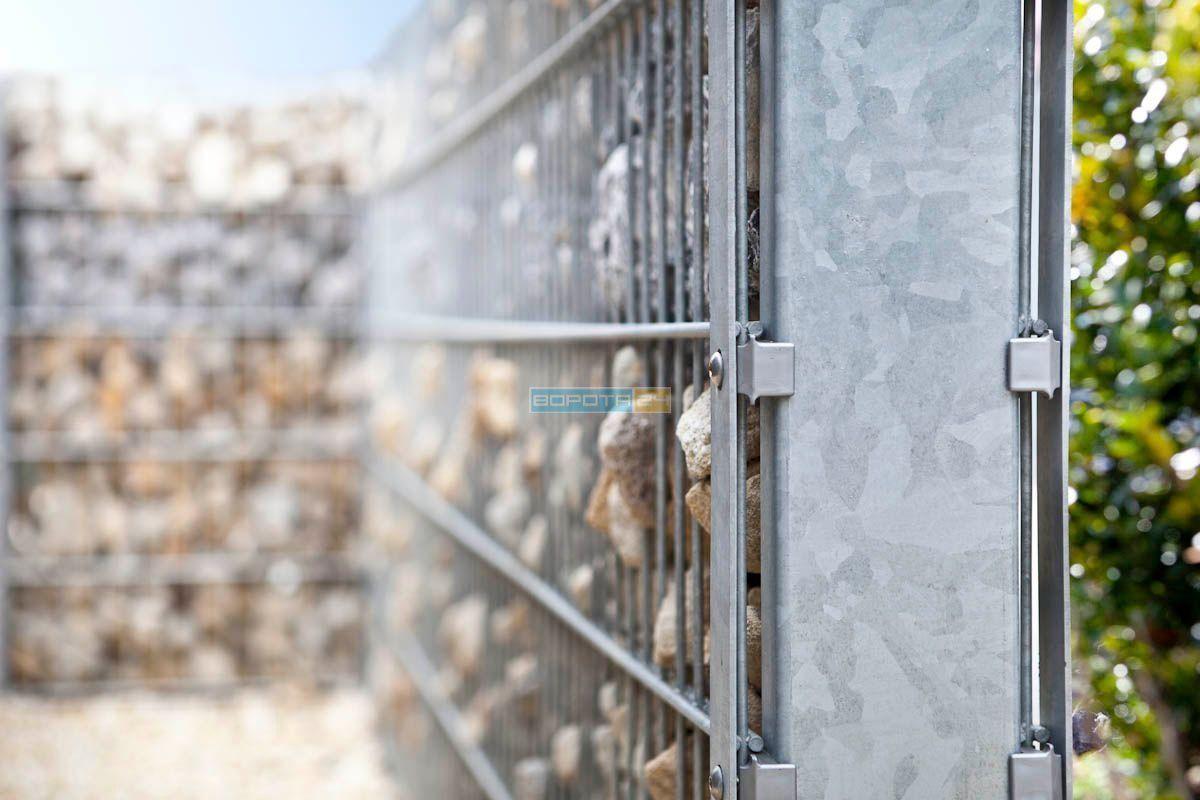 kamennyye zabory-vorota pod zakaz - ustanovka setchatykh konstruktsiy - kiyev