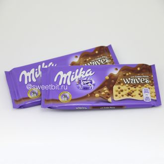 Milka waves шоколад с кусочками печенья!