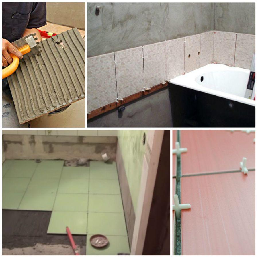 Укладка плитки в ванной на цементном растворе мокрое железнение бетона