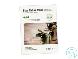 Маска тканевая Anskin Secriss Pure Nature Mask Olive с экстрактом оливы