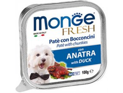 Консервы для собак MONGE DOG FRESH , утка - 100 грамм