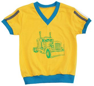 Футболка для мальчика (Артикул 2135-022) цвет желтый
