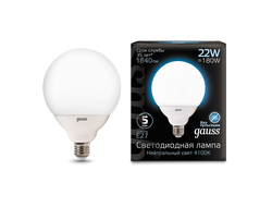 Gauss LED G125 22w 840 E27
