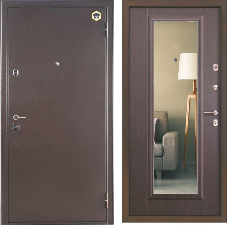 российские двери входные металлические с зеркалом