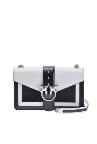 PINKO LOVE BAG EVOLUTION IN TWO-TONE LEATHER