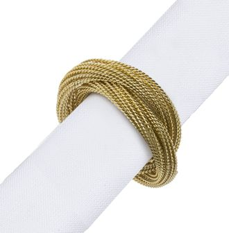 SIA JEWEL NAPKIN RING S/4 , 450007 , D3.8