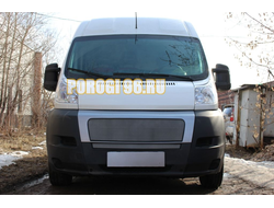 Защита радиатора Fiat Ducato III 2006-2014 chrome середина