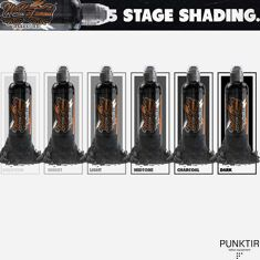 КРАСКА WORLD FAMOUS TATTOO INK - FIVE STAGE SHADING SET - 5шт