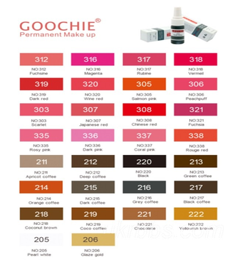 Пигмент для татуажа Goochie № 320 Wine red