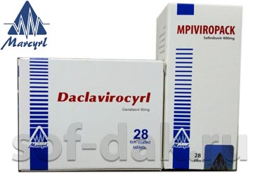 MPI VIROPACK  Софосбувир 400 мг Daclavirocyrl Даклатасвир 60 мг Производитель Marcyrl Pharmaceutical Industries, Египет
