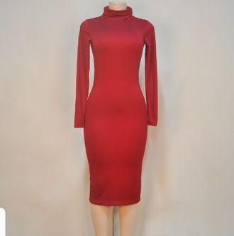 Платье с Длинным Рукавом, Высокая Шея