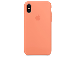 Чехол-накладка Apple Silicone Case iPhone Peach